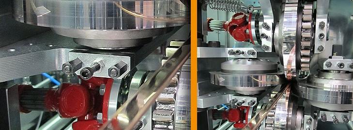 Laminoirs de fil. Cages de laminage libres ou motorisées.%%%Installations complètes pour fil méplats, bandes et profilés.