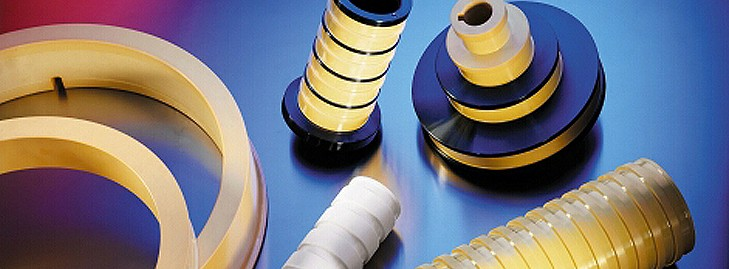 Outils de tréfilage en céramique frittée.%%%Cônes, bagues et cabestans de tréfilage. Poulies de renvoi.